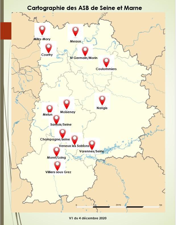 - Cartographie des ASB en Seine et Marne